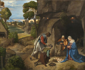 PAINTING-GIORGIONE-ADORATION-OF-THE-SHEPHERDS-XXL-POSTER-WALL-ART-PRINT-LLF0282