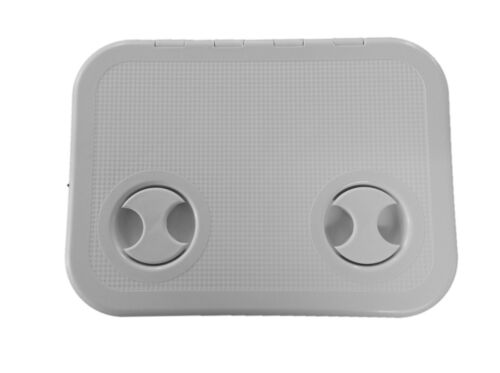Grey 370mm x 270mm Lalizas Hinged Boat Access Inspection Deck Hatch
