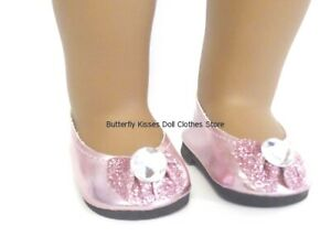 Pink Butterfly Mary Jane Shoes fits American Girl Doll