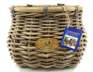 NANTUCKET TUCKERNUCK OVAL SHAPE GRAY FRONT BICYCLE BASKET