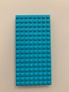 2 X LEGO Plate 16 x 16 Medium Azure Building Plate Base Plate Brand New