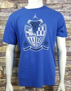 Nike-Jordan-Dri-Fit-Crest-T-Shirt-Blue-Mens-XL-Fits-Like-A-Large-L