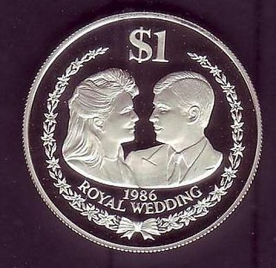 Cook Islands $ 1 - Royal Wedding Of Prince Andrew With Miss Sarah Ferguson