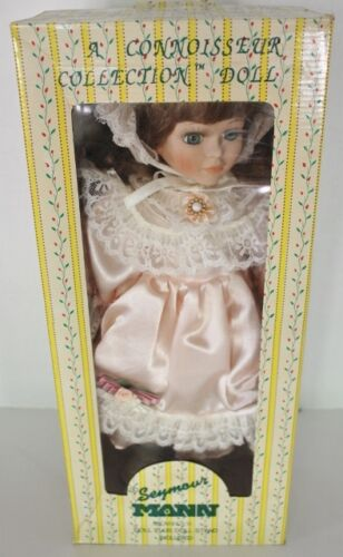 """vintage-seymour-mann-connoisseur-collection-doll-with-stand---15""""-mcmxcvii---nib by seymour-mann"""