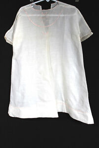 ANTIQUE-CHILD-039-S-EDWARDIAN-WHITE-EMBROIDERED-LINEN-TODDLER-DRESS-SIZE-2T