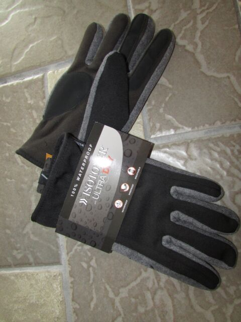 ISOTONER ISO UltraDry lining Waterproof Winter Gloves Size M//L 775M2 Black ~ NWT