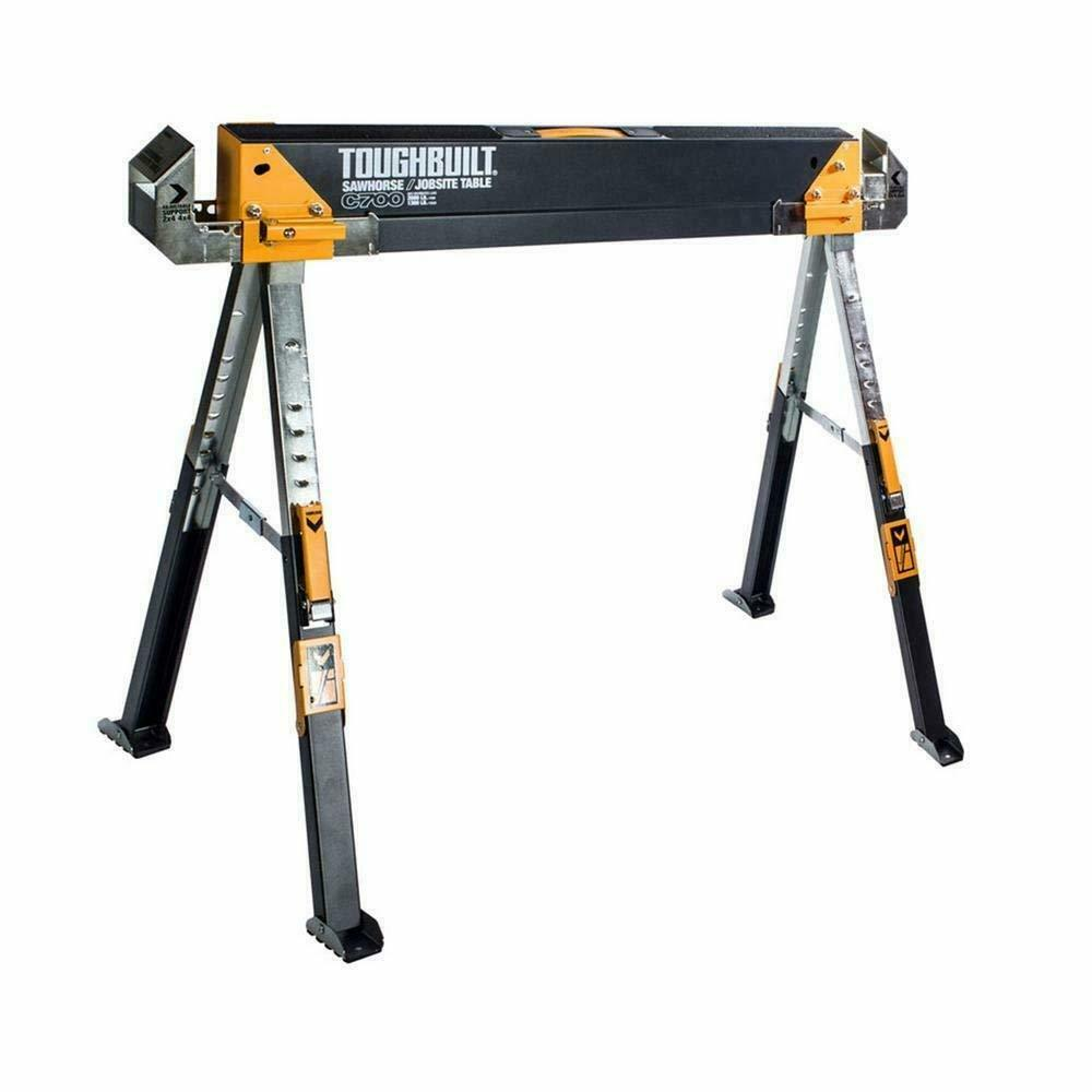 Toughbuilt Sawhorse Adjustable up to 4 x 4 Größe Support Arms 1300 LB Capacity