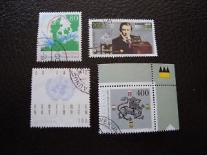 Germany-Rfa-Stamp-Yvert-and-Tellier-N-1634-A-1637-Obl-A5-A