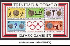 Trinidad & Tobago - 1972 Munich Jeux Olympiques-min/sht Neuf Sans Charnière-afficher Le Titre D'origine