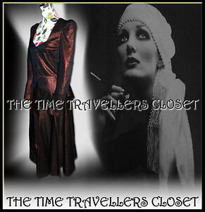 VINTAGE-RARE-COLLECTORS-Biba-Jupe-Veste-Costume-early-70-S-Bronze-Glamour-UK-10-12