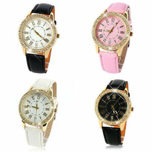 Ladies-Stylish-Fashion-Geneva-Quartz-Gold-and-Crystal-Wrist-Watch-Aussie-Seller