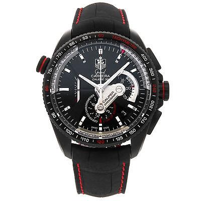 Tag Heuer Grand Carrera Chronometer PVD Titanium Auto Watch CAV5185.FC6237