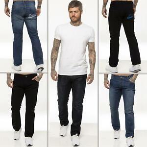Enzo pour homme coupe droite regular leg homme travail Denim Pantalon Toutes Tailles Tailles