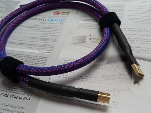 Professional HiFi Audiophile USB 2.0 A-B Device DAC Cable AB Audio
