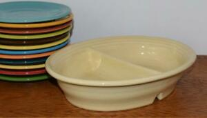 Fiesta-IVORY-Oval-Vegetable-Divided-Bowl-1st-Quality