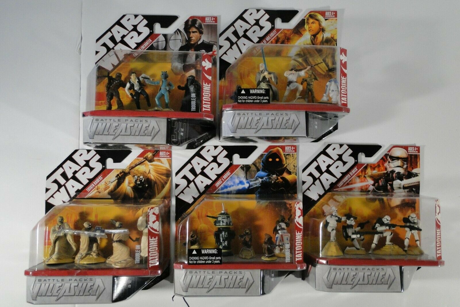 Star Wars Unleashed battle Packs Trouble on Tatooine Set of 5 Hasbro 2007