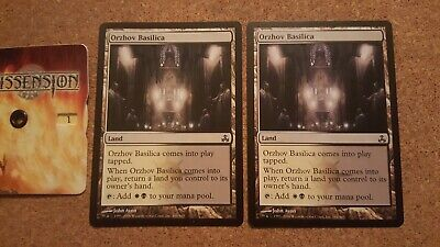 2x Orzhov Basilica Dual Bounce Land Common Magic Mtg Guildpact Gpt Ebay For most magic software, including magic workstation and cockatrice: ebay