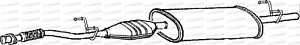MERCEDES Sprinter 212 312 412 2.9td Van 95-00 TUBO DI SCARICO ANTERIORE CAT Scatola