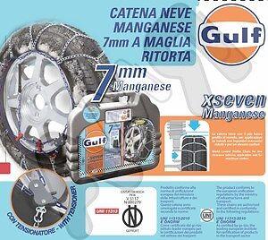 CATENE DA NEVE GULF IN MANGANESE 7 MM ANCHE AUTO NON CATENABILI 90 215//45-17