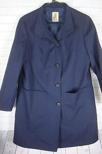Navy Sz Vintage Mighty Out Button Kvinder Mac 'Gloucester Portcoat O Blue 8 Up P1ZwPzq