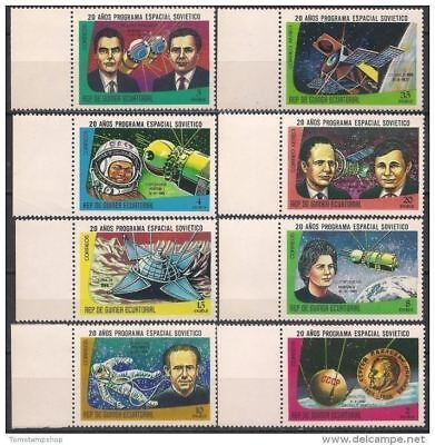 Stamps Europe Persevering Equatorial Guinea 1978 Russia In Space Gagarin Terechkova Luna Ix Vostok 8v Mnh To Be Distributed All Over The World