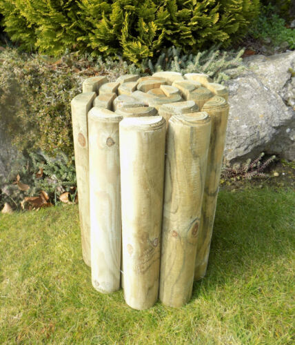 "Wooden Garden Border Log Rolls Garden Edging 18/"" Log Roll"