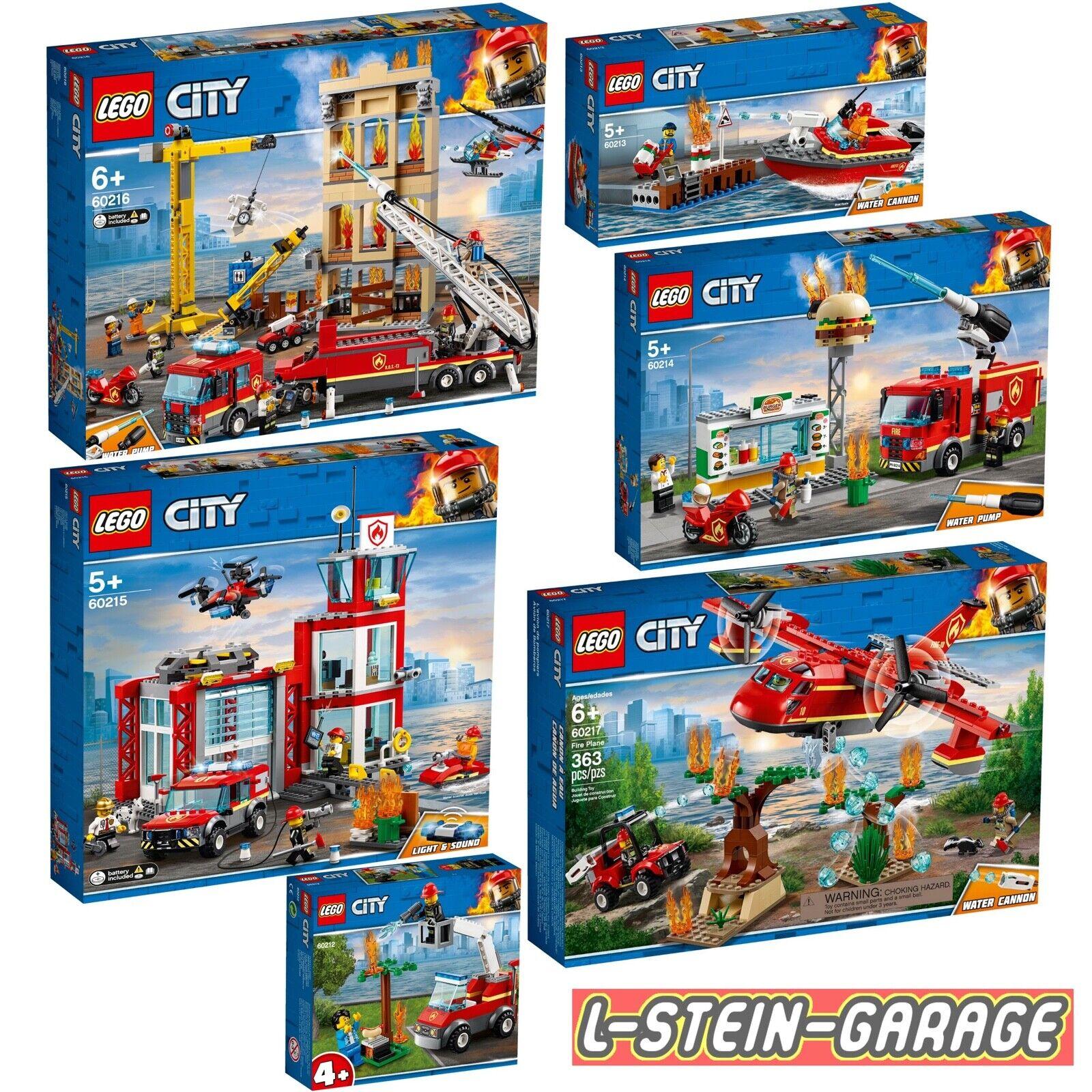 LEGO® City Feuerwehr 6 Sets 60212+ 60213+ 60214+ 60215+ 60216+ 60217  NEU & OVP