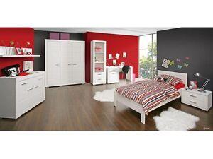 Jugendzimmer Snow 7 Tlg Kinderzimmer Mobel Set Bett 140x200 Cm