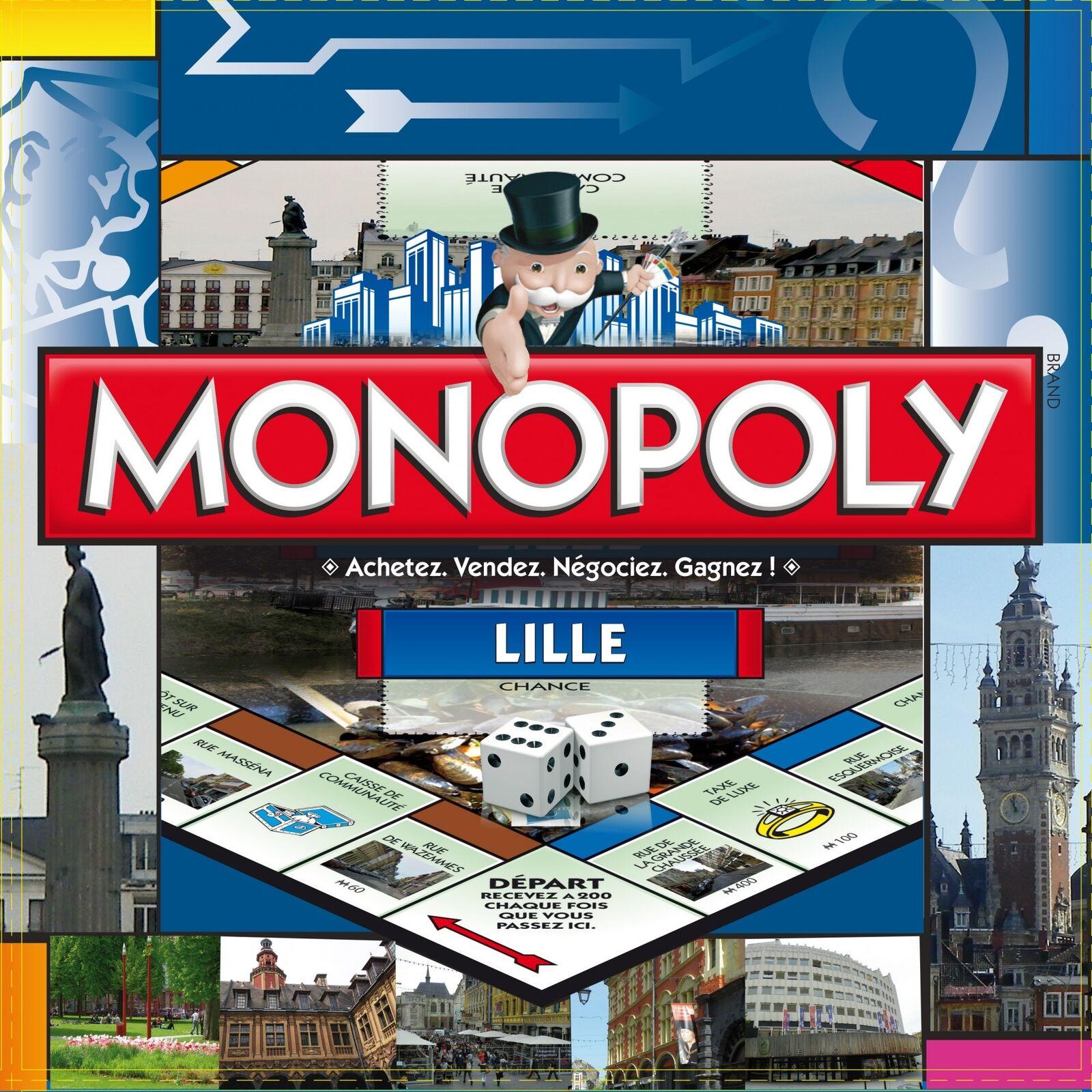 Monopoly Lille Ciudad Edición Juego Juego de Mesa Francia Francés Nuevo