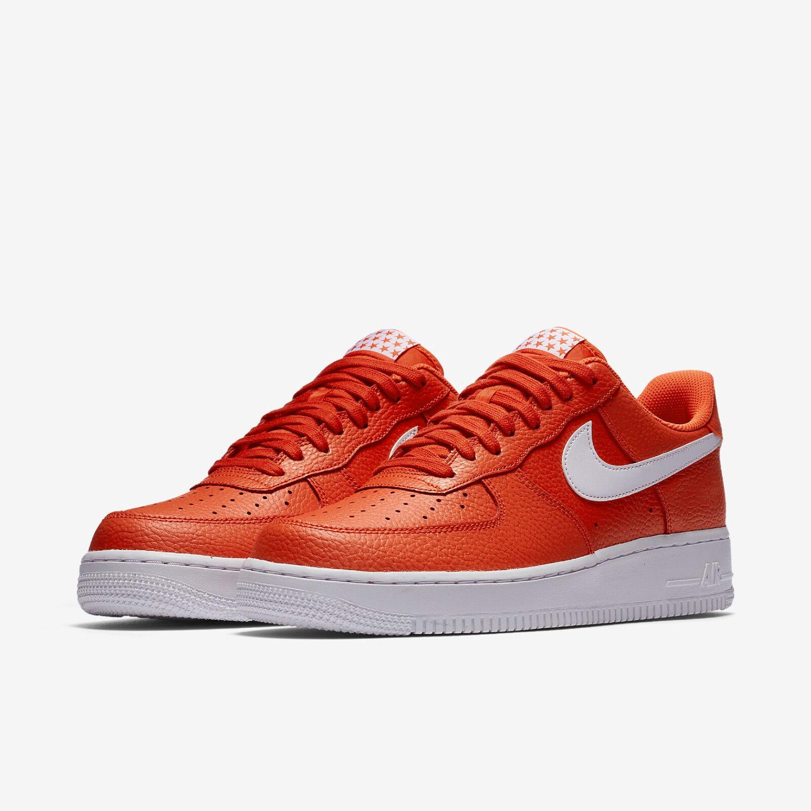 NIKE homme Air Obliger 1 '07 faible Top Sneaker (Team Orange/blanc)