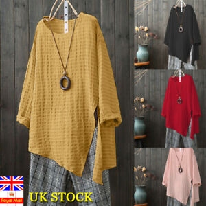 Plus-Size-Boho-Women-Long-Sleeve-Kaftan-Baggy-Blouse-T-Shirt-Tops-Casual-Tunic