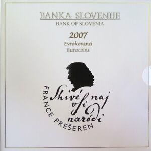 0564 - Coffret Bu Slovenie - 2007 - 1 Cent à 2 Euros Haute RéSilience