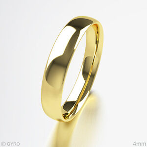 Brand-New-18ct-Yellow-Gold-Premium-Quality-Court-Shaped-Wedding-Band-Rings