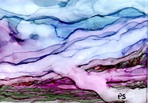 ACEO-Miniature-Abstract-Alcohol-Ink-Fog-Landscape-Painting-art-by-Penny-StewArt