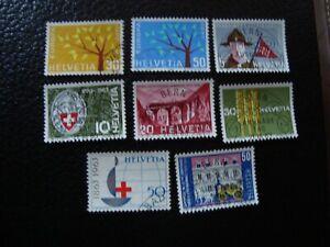 Switzerland-Stamp-Yvert-Tellier-N-698-99-705-10-Cancelled-A43
