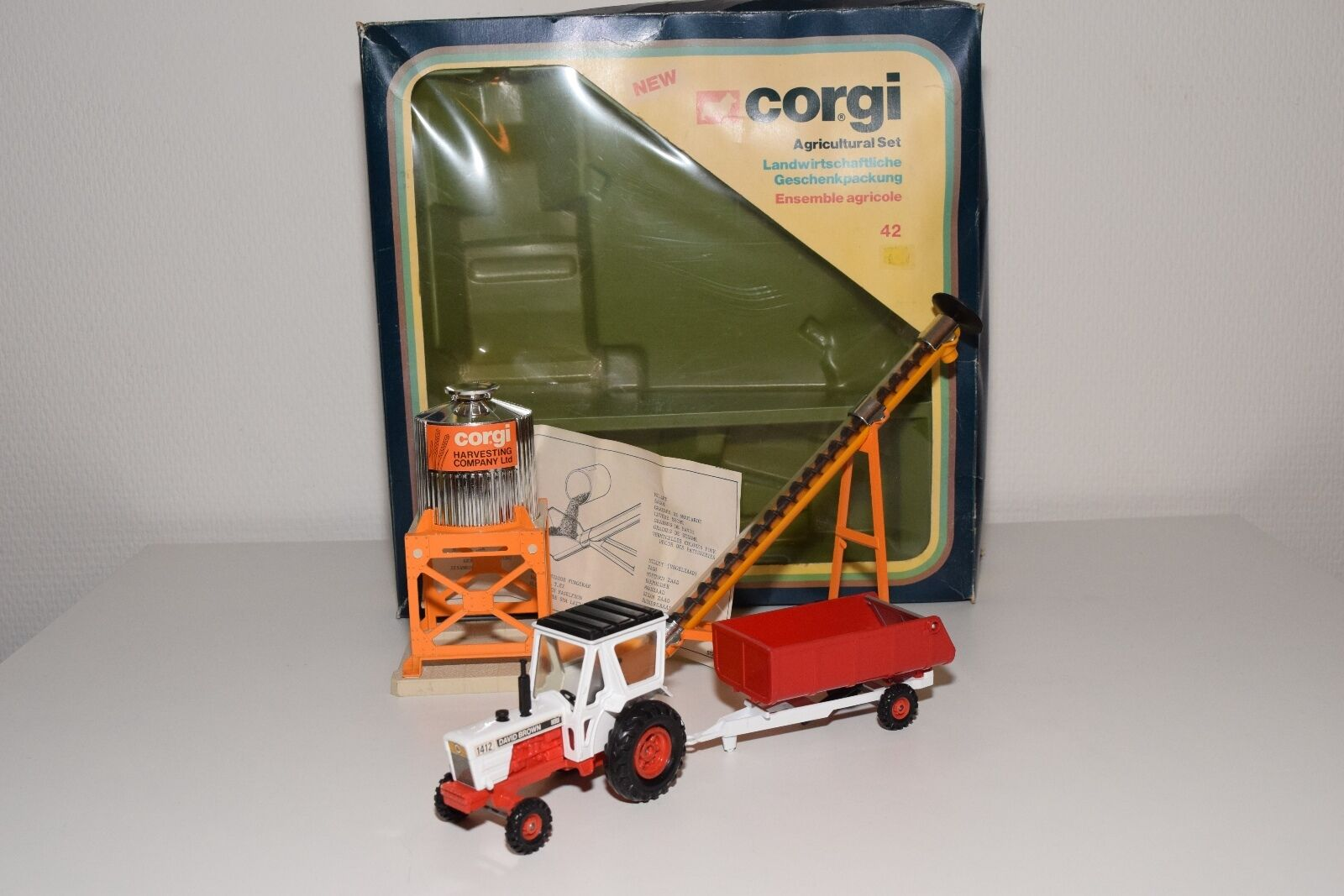 \\ CORGI TOYS GIFTSET GIFT SET 42 AGRICULTURAL NEAR MINT BOXED RARE SELTEN RARO