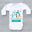Personalised My First 1st Christmas Xmas Penguin Snowflakes Baby Grow Bodysuit