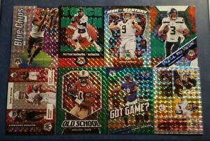 2020 Mosaic Football Inserts Blue Green and Mosaic Parallels You Pick