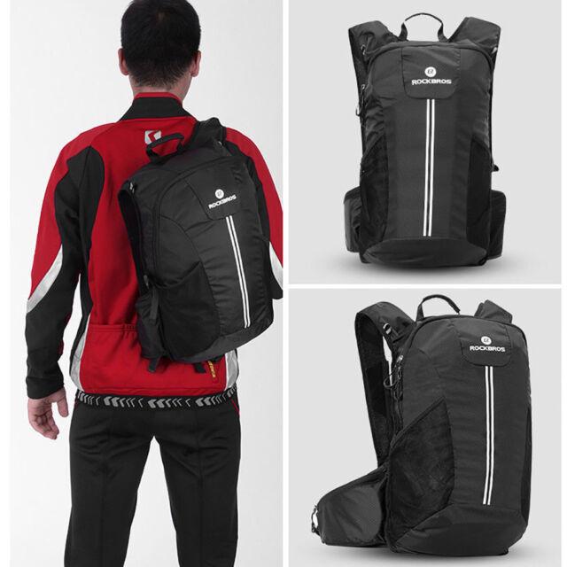 ROCKBROS Cycling Backpack Rainproof Sport Outdoor Camping Hiking Bag Black