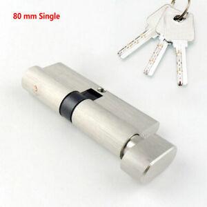 details sur 80mm serrure a barillet cylindre avec 3 cle securite verrou porte bricolage