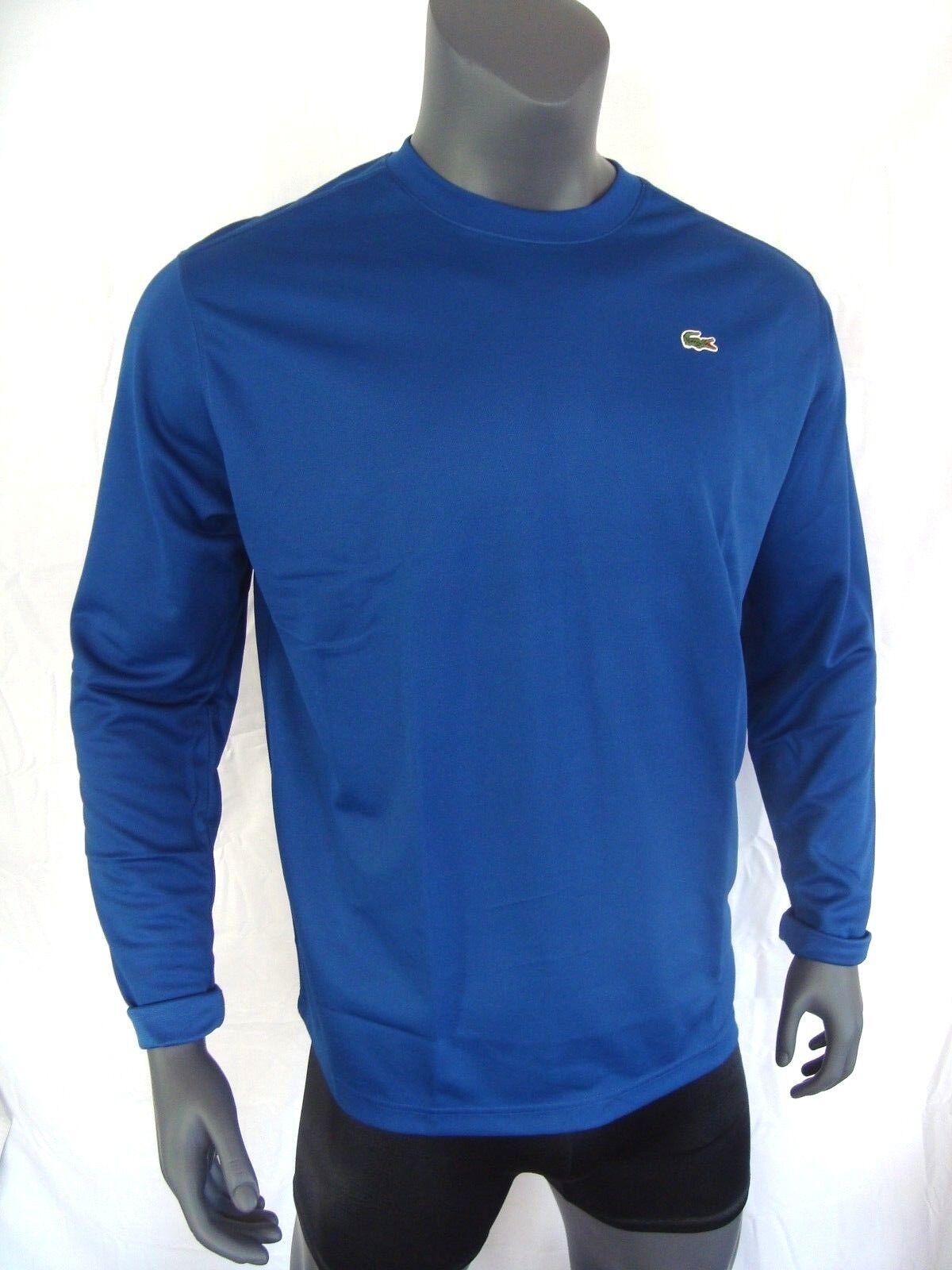 Lacoste Sport blu Poli Maglia Ls Uomo Maniche Lunghe T-Shirt Nuovo XL, 3XL, 4XL