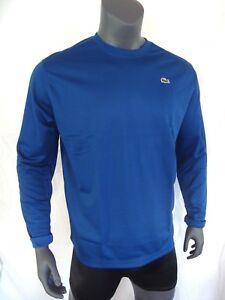 1319614e88 Lacoste Sport Bleu Poly Tricot Ls Homme T-Shirt Manches Longues Neuf ...