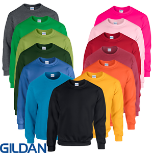 Gildan-LADIES-MEN-039-S-SWEATSHIRT-PULLOVER-SWEAT-CREW-NECK-NEON-S-5XL-PLUS-SIZE-NEW