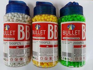 6 mm BB Balles Haute Qualité Granulés De Precision Airsoft Balles 2000pcs Jar/Sac  </span>