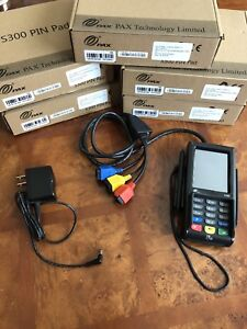 Details about 5 PAX S300 Pinpads EMV POS Chip Card Reader Terminals w/  Encryption Key for BAMS