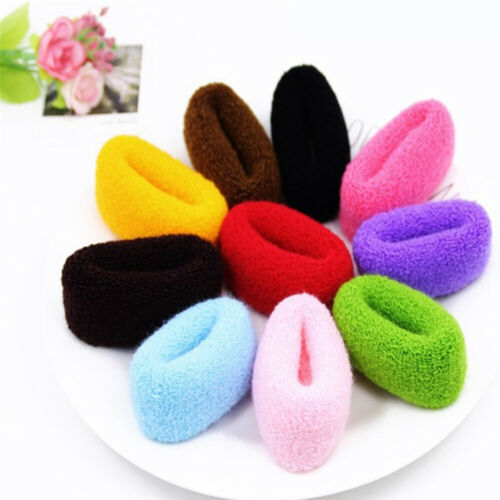 Details about  /-12Pcs Women Hair Rings Rope Wide Thick Hairbands Elastic Candy Ponytail Holders