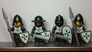 Lego-CASTLE-TEMPLAR-ORDER-OF-SAINT-LAZARUS-KNIGHTS-Minifigs-made-from-Sticker