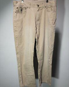 Polo-Ralph-Lauren-Chino-Pants-Mens-Khaki-Beige-Dungarees-Cotton-Size-36-34