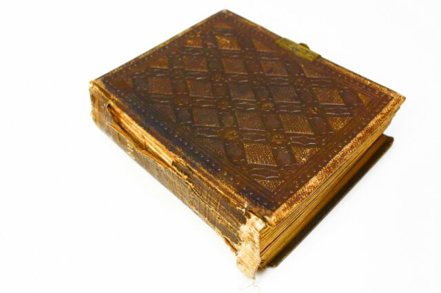 Antique 1860's Leather Bound Photo Album with Cabinet Cards & Tintypes