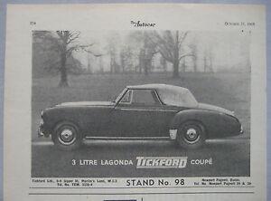 1953-Three-litre-Lagonda-Tickford-Coupe-Original-advert